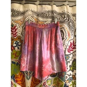 VINTAGE purple pink sunshine beach shorts tiedye